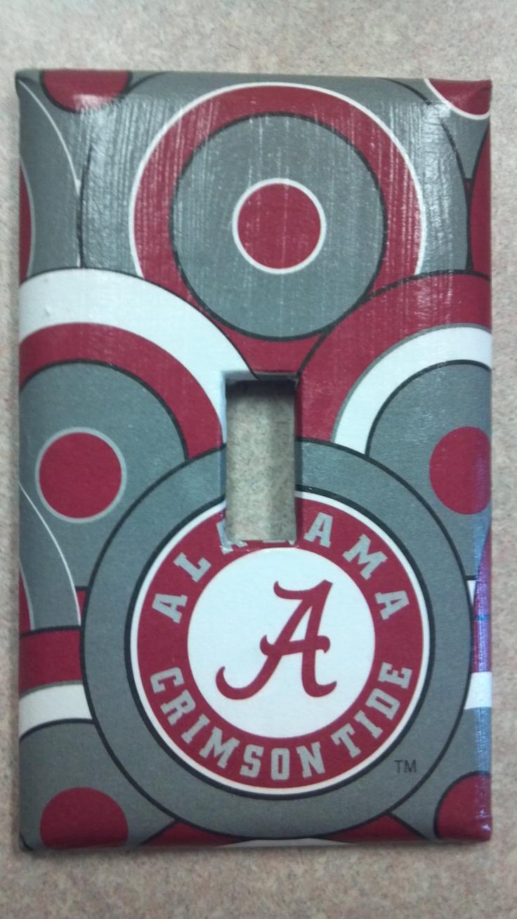University Of Alabama Switch Plate   Crimson Tide. $6.95, Via Etsy. Alabama  BedroomAlabama DecorAlabama ...