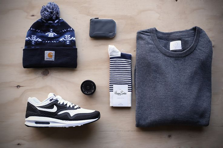 AS Knit, Happy Socks, Beanie, Bellroy wallet and Nike runs from Stencil #mensfashion #retail
