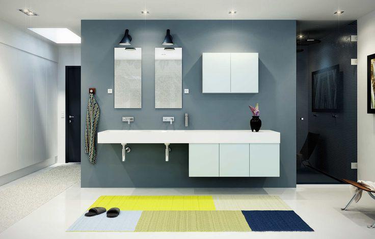 Pastel blåt stilrent design til dit bad - Model Mono | HTH