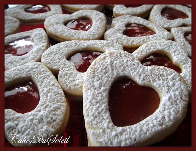 More heart tarts, with a recipe link.