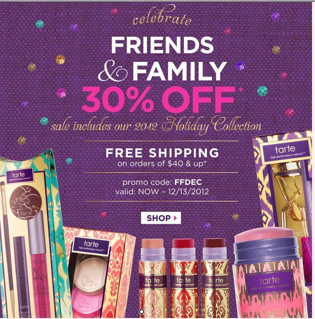 Proud product JUNKIE!: Tarte Friends & Family Sale 30% OFF