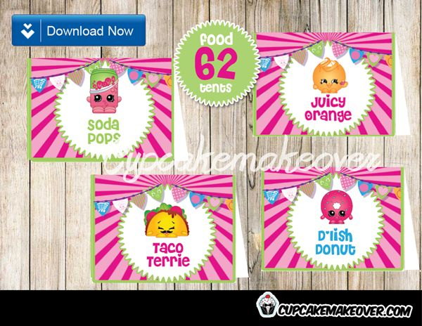This is a photo of Free Printable Shopkins Food Labels with regard to card