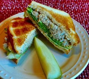 A Roast Beef Salad Sandwich (made from leftover roast beef). I don't grind, I finely chop. I use a bit of mustard and omit the eggs (It's even better on the second day.) One of my favorite sandwiches for fifty years!