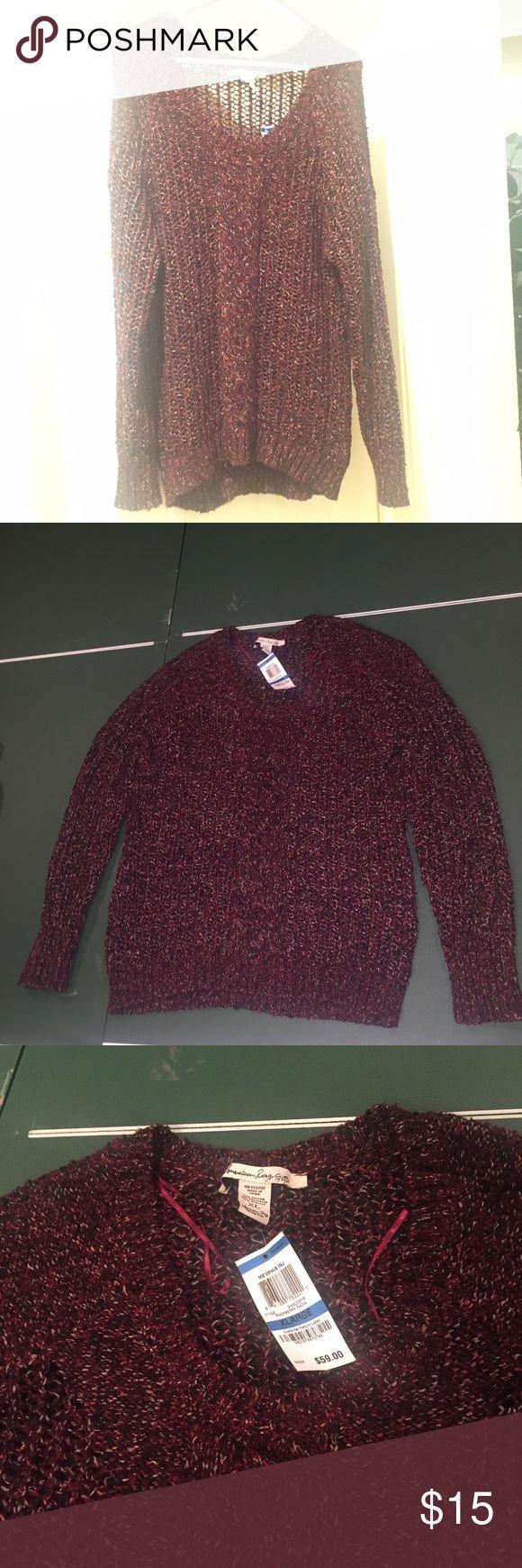 American rag burgundy sweater size XL American rag burgundy sweater size XL new with tag on American Rag Sweaters Crew & Scoop Necks