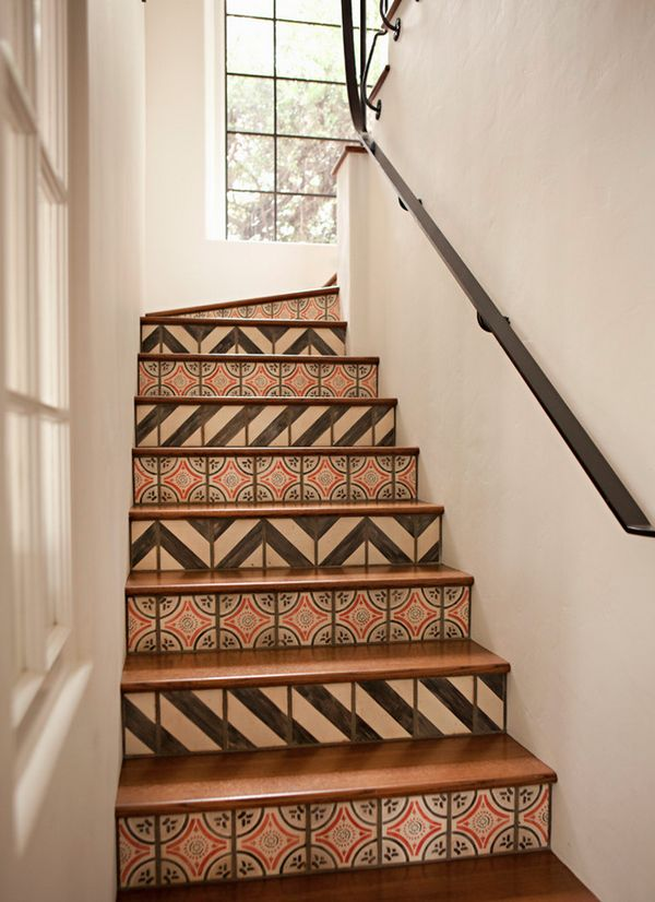 Tiled stairs-I would love something like this in my home!