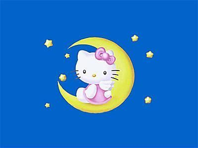 25 Free and Adorable Hello Kitty Wallpapers: Goodnight Hello Kitty Wallpaper