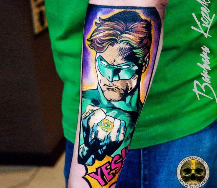 Green Lantern tattoo by Barbara Kiczek