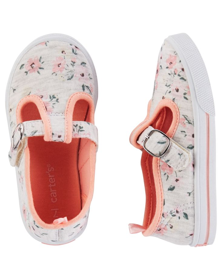 Toddler Girl Carter's Floral Mary Jane Sneakers | Carters.com