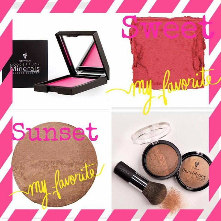 Sunset Bronzer and Sweet Pressed Blusher. My two favorite products to get your skin looking sun kissed and summer ready in NO time!!