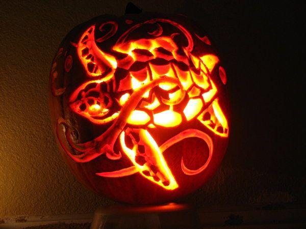 sea turtle carved pumpkin