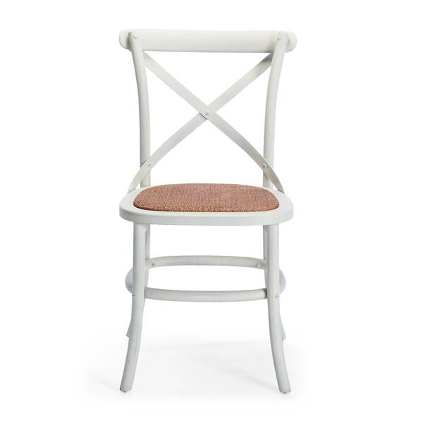 Hamptons cafe chair with rattan seat. Available online or in store. http://www.shack.com.au/contact-us
