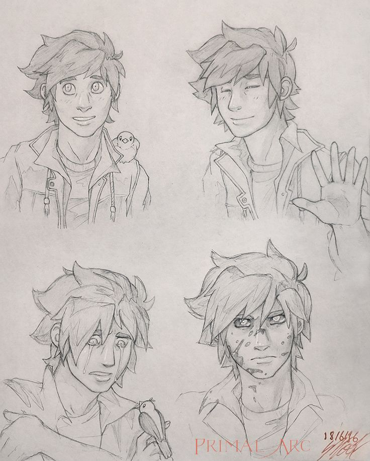 Ash Fletcher sketches, pencil.
