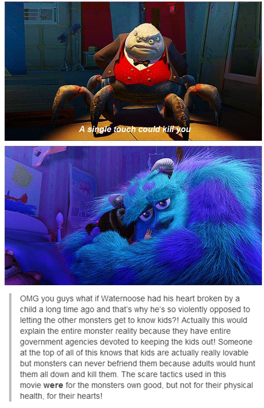 This is a good theory, although I'm not sure I'd accept it as headcanon...