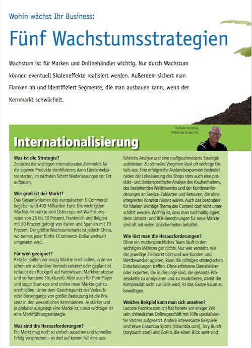 """Excerpt """"Internationalization"""" from our CEO in iBusiness Dossier """"Zukunft des Handels""""  #internationalization #future #retail #growth"""