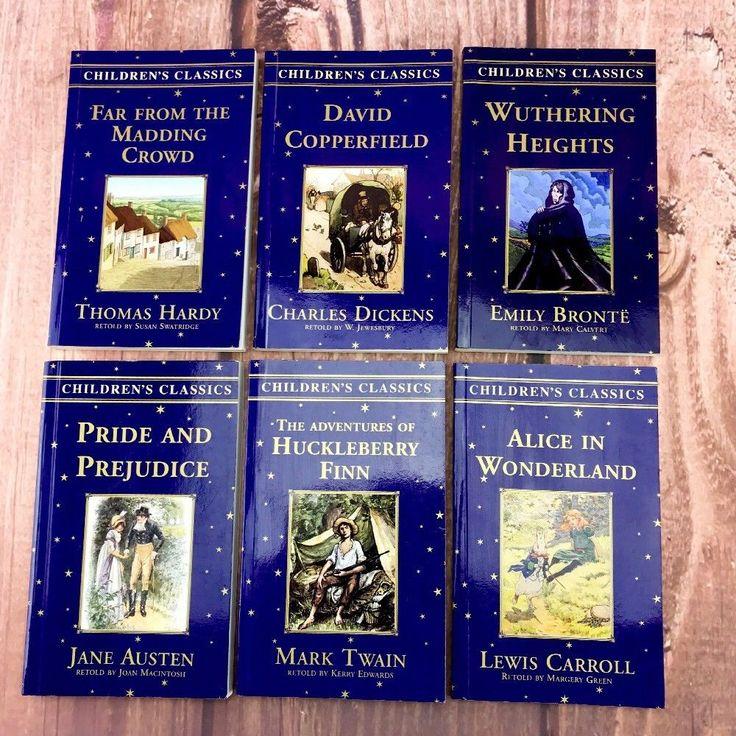 6 X Childrens Classics Reading Books Austen Carroll Twain Hardy Dickens Bronte