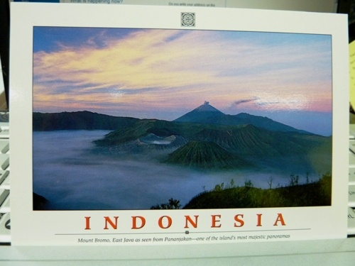Mount Bromo - Indonesia Postcard