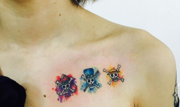 One Piece Watercolor Tattoo ASL Jollyrogers