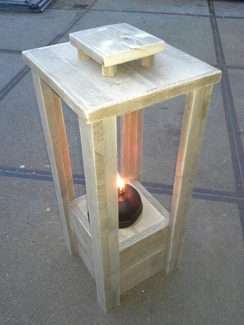 Afbeeldingsresultaat voor windlicht steigerhout