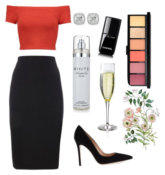 """""""Untitled #51"""" by ssimuhina on Polyvore featuring Alice + Olivia, Frederic Sage, Gianvito Rossi, Chanel and Kenneth Cole"""