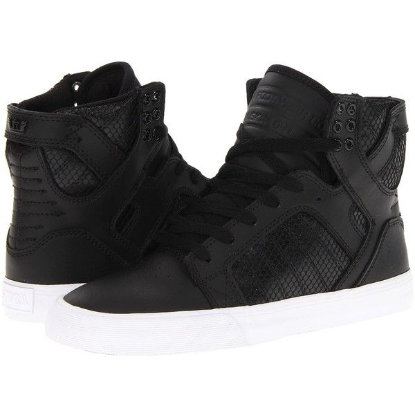 Supra Skytop ($63) ❤ liked on Polyvore featuring shoes, sneakers, zapatos, supra, tenis, sneakers & athletic shoes, cap toe shoes, leather footwear, leather shoes and supra footwear