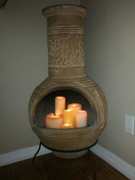 Chiminea candle fireplace | House decor | Pinterest ...