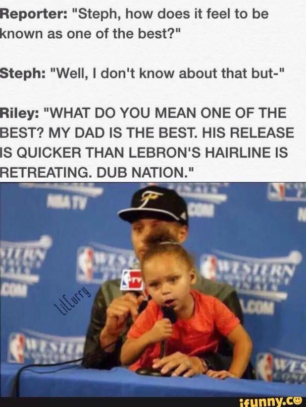Steph Curry and daughter Riley MVP MVP MVP MVP