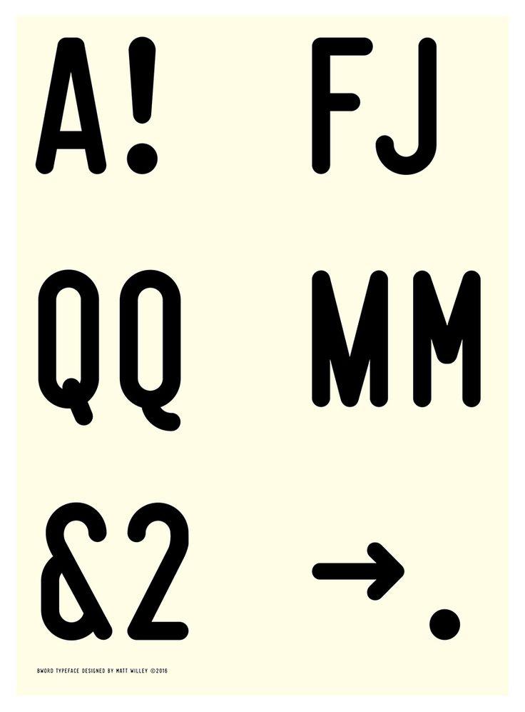 BWord Typeface - Matt Willey
