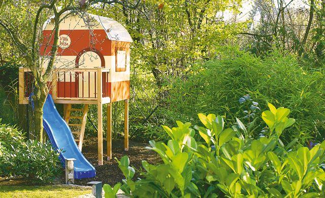 Dieses reizvolle Spielhaus auf Stelzen erfüllt Kinderträume. Und es ist nicht mal schwierig, dieses Kinderhaus zu bauen, wie unser Bauplan zeigt