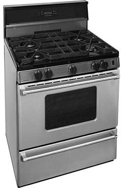 Premier Pro 30″ Freestanding Natural Gas Range Stainless Steel P30S3402PS