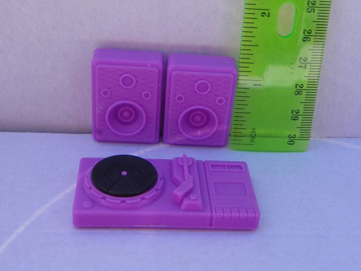 Vintage Barbie 1:6 scale 1/6 scale Stereo and Speakers , Miniature Diorama Record Player , Mini Dollhouse , Barbie Accessory , Turn Table by ShersBears on Etsy