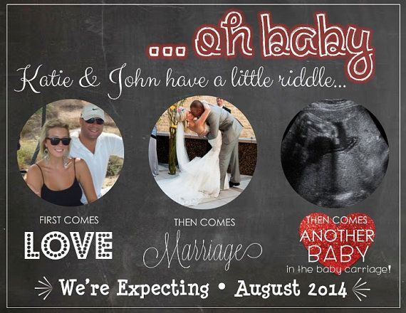 Valentines Day Pregnancy Announcement By Lcodesignandpaperie 13 00