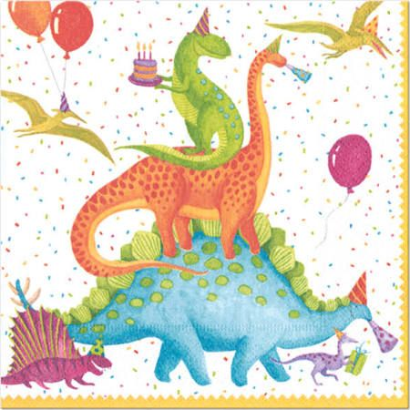 caspari napkins, dinosaur - Google Search