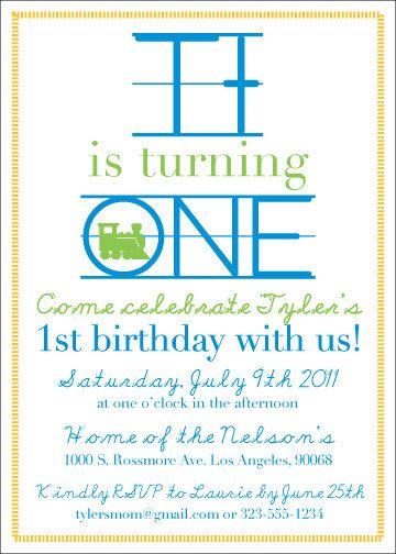 PRINTABLE Party Invitation - Personalized Modern Alphabet Theme