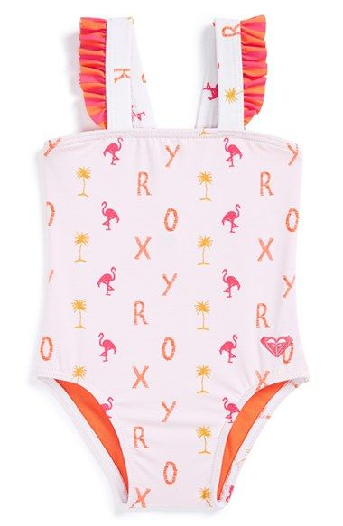 Roxy+'Flamingo+Beach'+One-Piece+Swimsuit+(Baby+Girls)+available+at+#Nordstrom