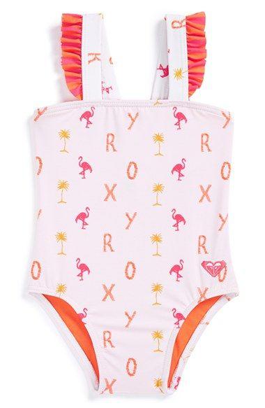 Roxy 'Flamingo Beach' One-Piece Swimsuit (Baby Girls) | Nordstrom