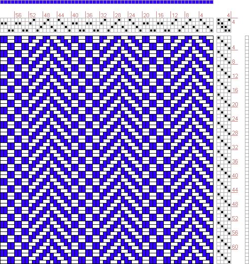 Hand Weaving Draft: Page 24, Figure 1, Textile Design and Color, William Watson, Longmans, Green & Co., 4S, 4T - Handweaving.net Hand Weaving and Draft Archive