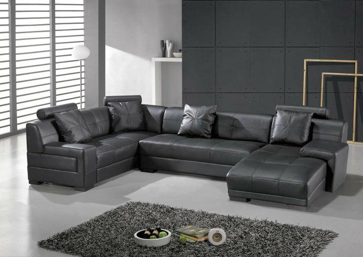 Hokku Designs Houston Leather Sectional   AllModern