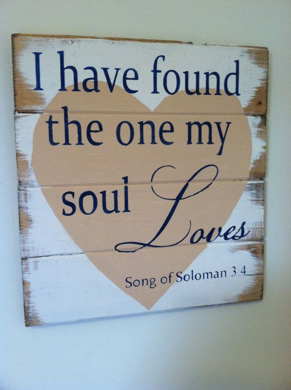 "Two become One - Soul Loves 13""w x14""h hand-painted wood sign"