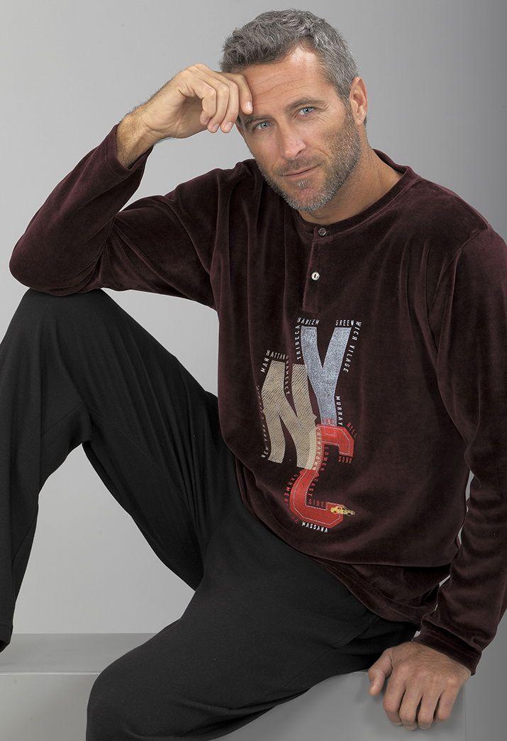 "#Pijama dos piezas. Pantalón largo ""NYC"". #men #homewear"