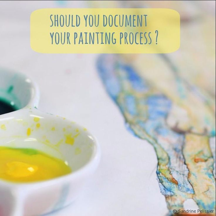 Artists: Should you document your process and take pictures? on ARTiful, painting demos