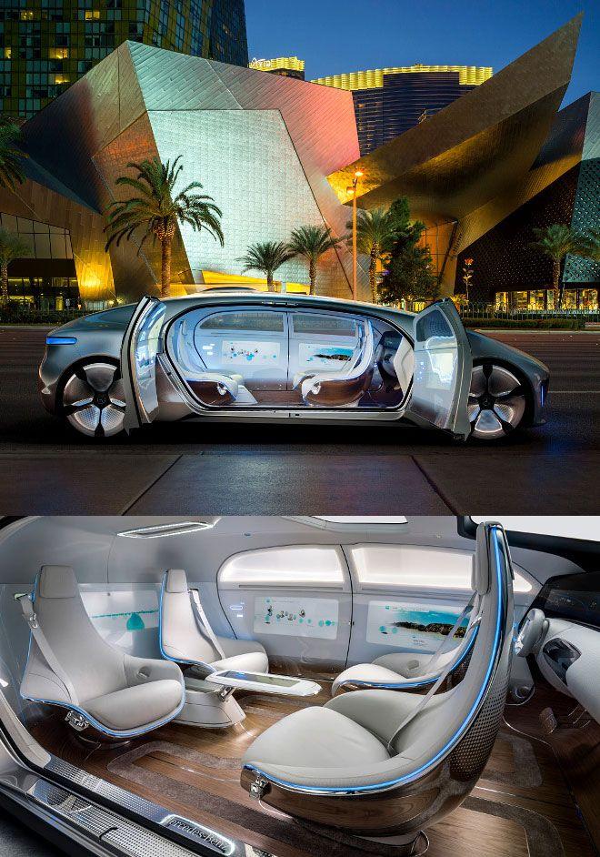 """Concepto del Mercedes Benz F 015 """"Luxury in Motion""""con auto-conducción,es una mirada hacia el futuro de la movilidad"""