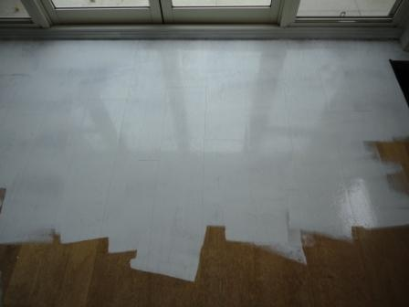 How to paint floors white