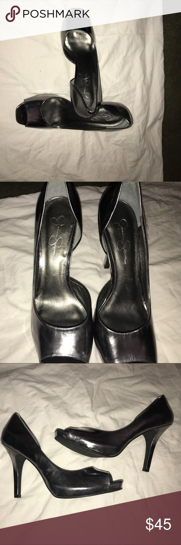Sexy Jessica Simpson heels! Jessica Simpson 3 1/2 inch shoes very good and comfortable Jessica Simpson Shoes Heels