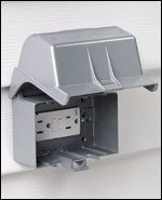 How to install an outdoor power outlet...for outdoor lighting.