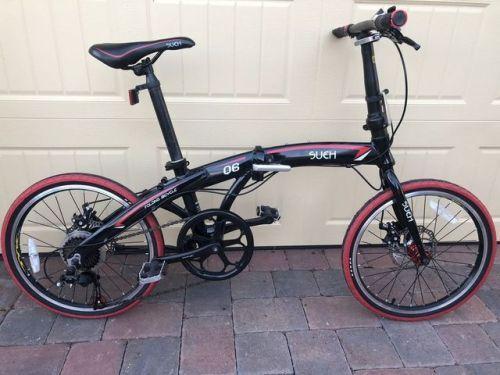 buy Sueh 20 Folding Bicycle 7 Speed Shimano Disc Brakes