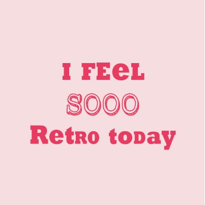 I feel sooo retro today made by www.metdehand.nl
