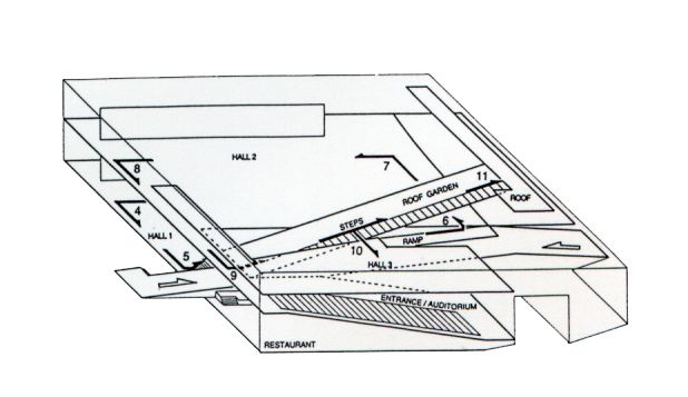 OMA - Kunsthal, Rotterdam, the Netherlands, 1992, Diagram