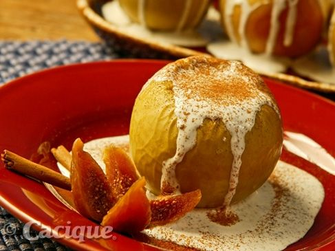 Baked Apples with Cinnamon Cream | Mexican Cheese | Cacique Inc. | Authentic Mexican Cheese