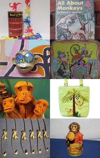 MONKEY Business  by Terese USA Eastern Time Zone on Etsy--Pinned with…