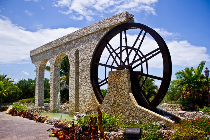 Water Wheel at a shopping center outside Montego Bay, Jamaica